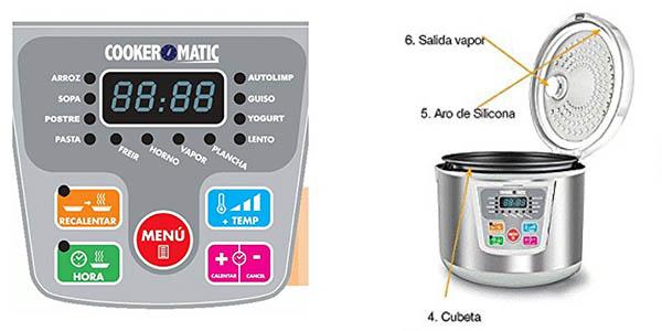 robot inteligente cocina compacto 12 programas