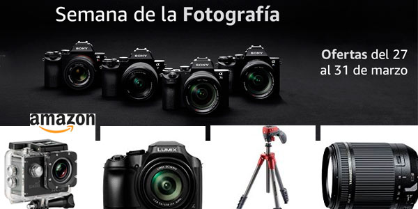 Semana de la fotografía en Amazon con grandes descuentos en primeras marcas de cámaras, objetivos y accesorios