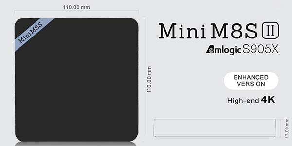Reproductor Mini M8S II ultra-compacto