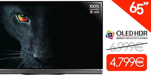 """Smart TV LG OLED65E6V 65"""" Ultra HD 4K 3D"""