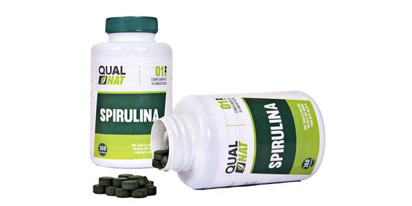 Spirulina de Qualnat bote de comprimidos baratos en Amazon