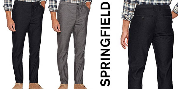Chollazo Pantalones Springfield Patterned Tipo Chinos Para Hombre Por Solo 19 36