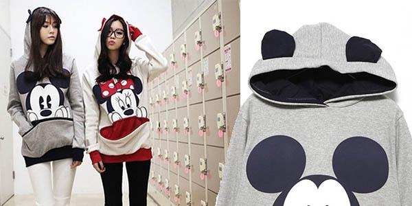 sudadera cómoda original Mickey y Minnie Mouse jóvenes