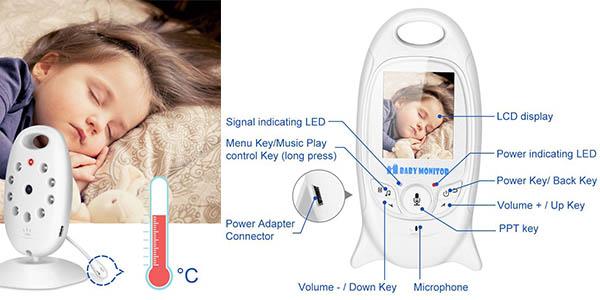 vigilabebés melodías nana micrófono sensor termómetro relación calidad-precio brutal