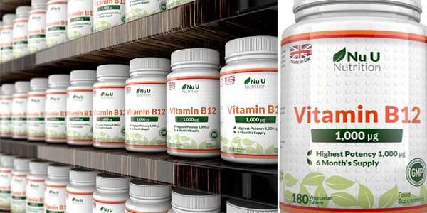 Vitamina B 12 Metilcobalamina de 1000 mcg 180 comprimidos barata en Amazon