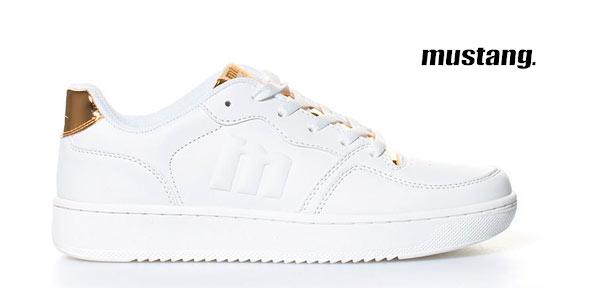 Zapatillas deportivas Mustang Action en blanco y dorado rebajadas en eBay
