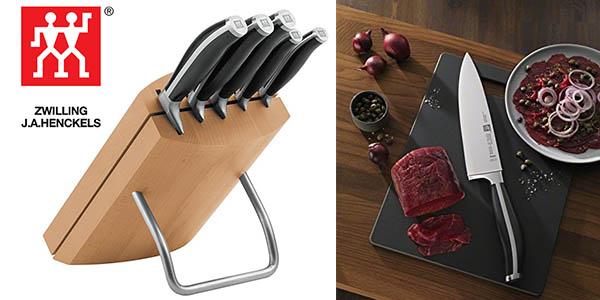 Zwilling Twin Cuisine 5 cuchillos con soporte barato