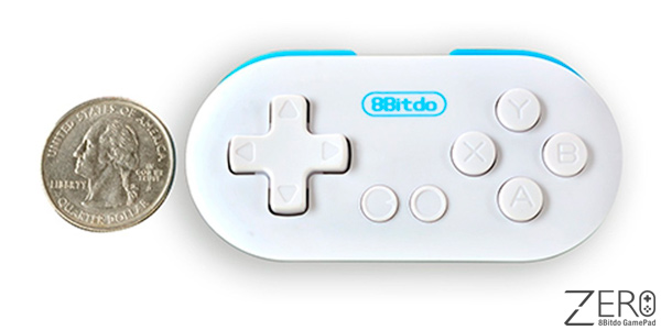 Gamepad bluetooth de bolsillo 8Bitdo Zero para Android, PC y Mac