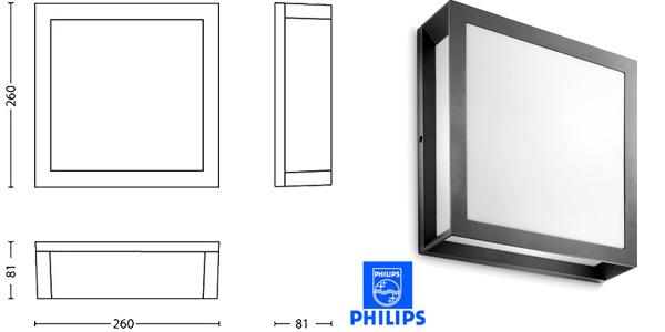Aplique exterior Philips Ecomoods Skies barato en Amazon España