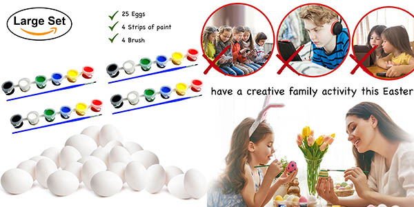 caja 25 huevos de pascua manualidades infantil