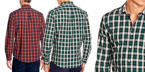 Camisas Dockers Laundered Poplin a cuadros baratas en Amazon