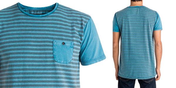 Camiseta Quiksilver para hombre azul turquesa Acid Striped al mejor precio en eBay