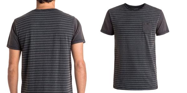 Camiseta para hombre Quiksilver Acid Striped a rayas grises rebajada en eBay