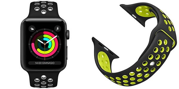Correas tipo Nike compatibles con Apple Watch 38mm y 42mm
