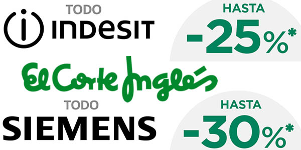 descuentos Siemens Indesit 5 abril 2017 El Corte Inglés