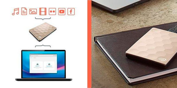 Disco duro externo portátil Seagate Ultra Slim de 1TB