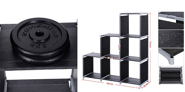 estantería almacenaje componible resistente funcional