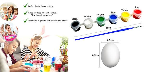 kit divertido huevos pintura plástica resistentes