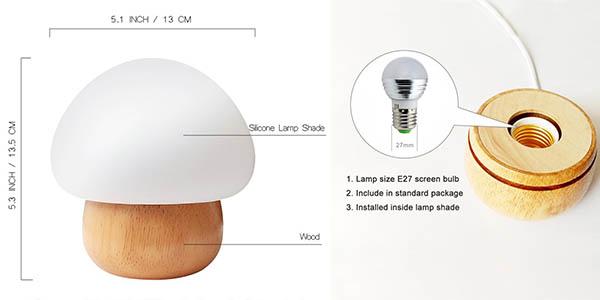 lámpara sunnior LED multicolor control remoto