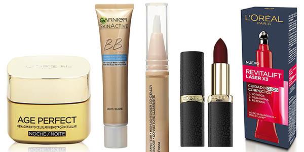 maquillaje crema facial pintalabios L'Oréal rebajados