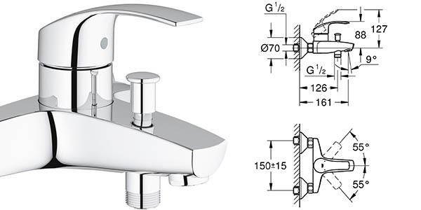 monomando grohe eurosmart cuarto de baño relación calidad-precio brutal