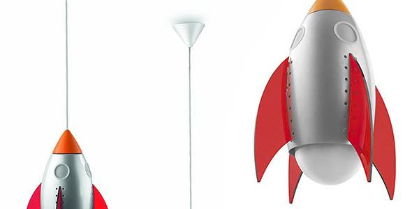 original luminaria colgante forma cohete philips mikidsroom rocky chollo