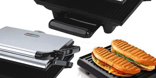 plancha eléctrica paninis sandwiches relación calidad precio estupenda