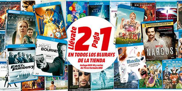 Promoción 2x1 Blu-ray Media Markt