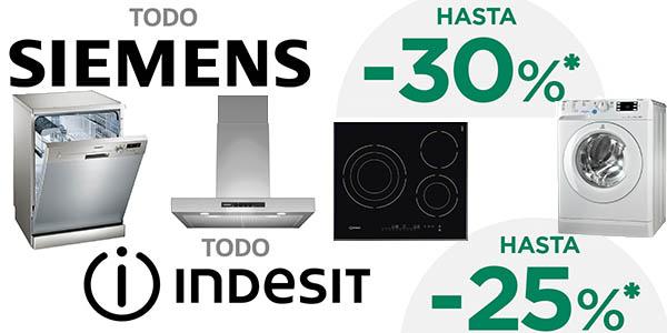 promoción electrodomésticos Siemens Indesit El Corte Inglés 5 de abril 2017