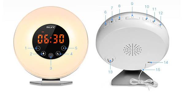 Despertador INLIFE LED Wake-up Light barato