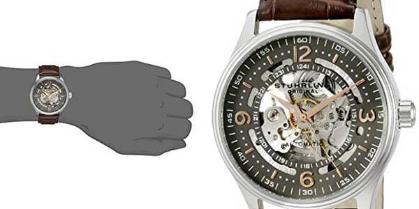 reloj pulsera cuero Stührling Original 730.02 hombre calidad-precio brutal