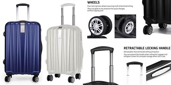 trolley rígido con ruedas oferta flash amazon