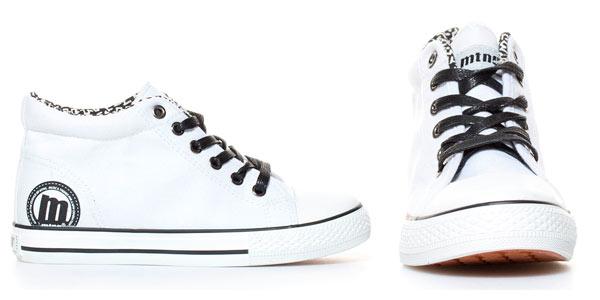 Zapatillas Mustang tipo Converse blancas con cuña interna rebajadas en eBay