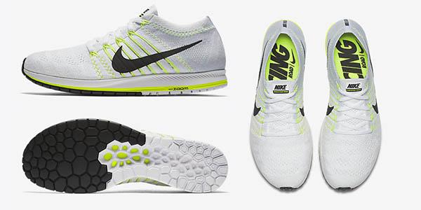 Zapatillas de running Nike Zoom Flyknit Streak color blanco