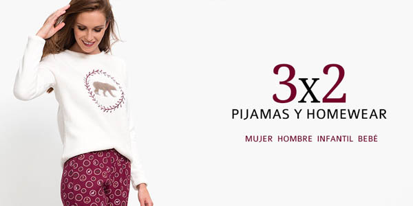 3x2 en pijamas Carrefour