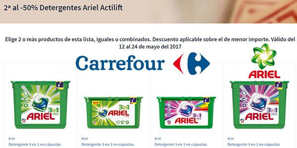 Ariel Actilift segunda unidad a mitad de precio en Carrefour mayo 2017