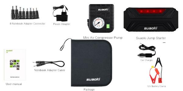 Arrancador de batería Suaoki T3 Plus barato en Amazon Electrónica