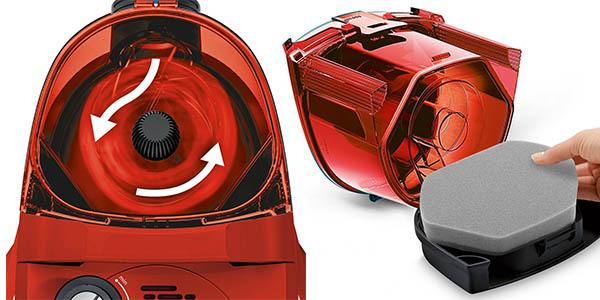 aspirador 700W Bosch BGC1UA110GS-10 filtros lavables