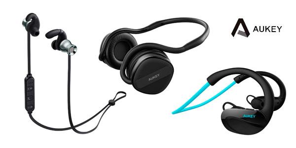 Auriculares deportivos Bluetooth Aukey rebajados con cupón de descuento en Amazon