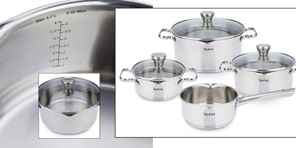 Batería de cocina Tefal Duetto de 7 piezas para inducción y horno rebajada en Amazon