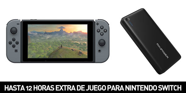 RAVPower de 26.800 mAh compatible con Nintendo Switch