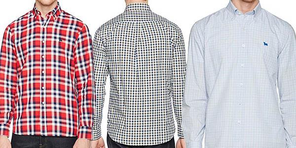 camisas algodón cuadros en colores diferentes gran relación calidad-precio