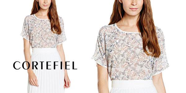 Camiseta mujer estampado Liberty de Cortefiel chollo en Amazon