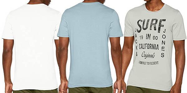 camiseta para hombre diseño casual Jack & Jones Jorfrancisco chollo