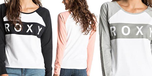 camiseta manga larga Roxy diseño casual