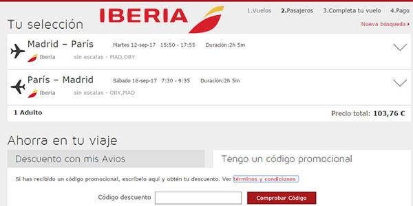 canjear tarjeta regalo Iberia