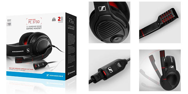 Cascos gaming de gama alta Sennheiser PC 373D baratos Amazon
