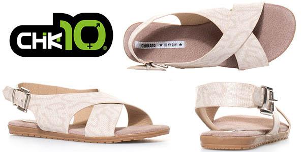 Chika10 Qatar 03 platino sandalias mujer baratas