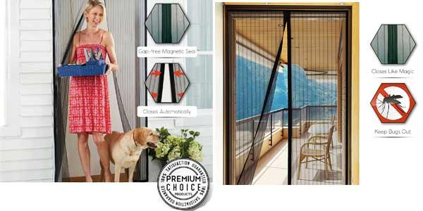 Cortina mosquitera Premium Instant Bug Mesh para puertas chollazo en Amazon