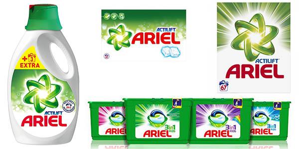 detergente Ariel Actilift promoción Carrefour 50% descuento